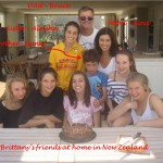 Brittany with friends and family