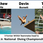 Former WOGA gymnasts Diving Championships