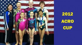 WOGA Acro Athletes compete in 2012 Acro Cup