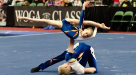 WOGA Athletes perform exhibitions at 2012 WOGA Classic