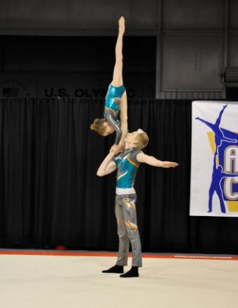 WOGA Acro Athletes compete in 2012 Acro Cup – WOGA Team News Acrobatic Gymnastics Mixed Pair