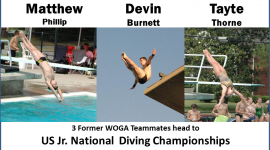 Three Former WOGA Teammates Head to US Diving Championships