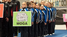 WOGA Acro athletes bring home 5 Golds and 3 Silvers!